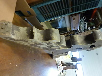 2 VICTORIAN corbel BRACKETS joined together = ART object BROWN paint 52 x 29 x 4