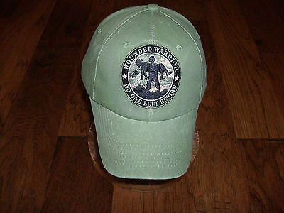 e252272650cc1 ... U.s Military Army Marine Corps Wounded Warrior Hat Cap Od Green Stone  Washed 10