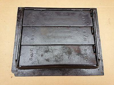 Vintage VICTORIAN Cast Iron Floor Grille 11+x10 Heat Grate Register + Louvers 4