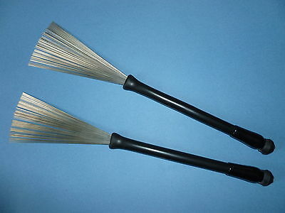 2 of 3 RETRACTABLE WIRE DRUM BRUSHES Ball End Original Premier Percussion Model