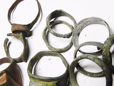 Zurqieh - Ancient Holy Land , Group Of 38 Ancient Bronze Rings 5
