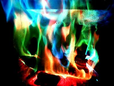 MYSTICAL FIRE 12 pkts Magical Fire Colourful Color changing Flames Campfire 7