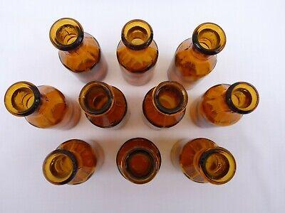 5 x alte braune Medizin Glas Apotheke Apotheker Flasche 20 ml ca. 7,5 cm braun 4
