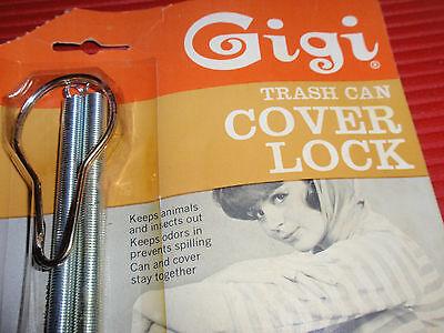 Vintage  Trash Can Cover Lock     Gigi      New Old Stock 6