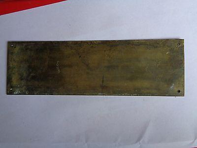 Single Antique Edwardian Elsey's Brass Fingerplate Needing A Polish 4