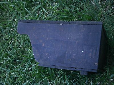 Vintage Antique Wooden Box For Cutlery With Dark Patina 7