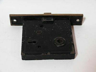 Broken Leaf Exterior Entry Door Mortise Lock Cast Iron Brass Victorian Lockwood 4