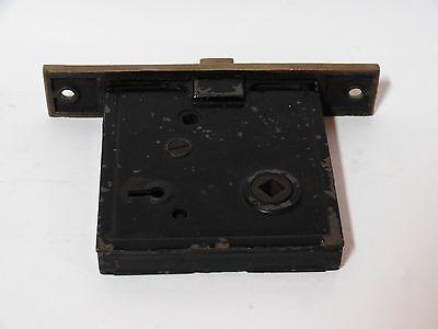 Broken Leaf Exterior Entry Door Mortise Lock Cast Iron Brass Victorian Lockwood 4