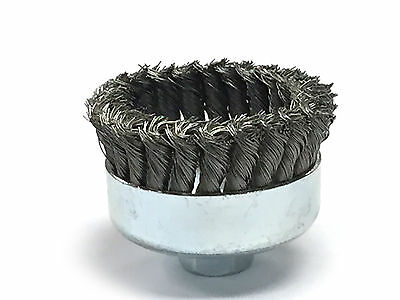 """4"""" Dia Knot Style Cup Brush - Carbon Steel Wire - 2 Pack 4"""