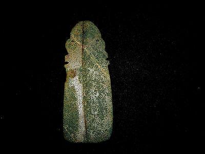 Pre-Columbian Shaman Ceremonial Jade Pendant, Very Rare, Large Pendant 6