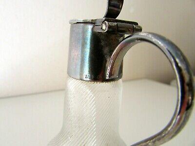 Wmf Silver Plate Swirled Glass Pitcher Jug Antique Miniature 4'' 4