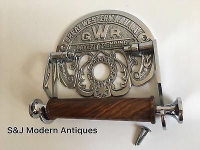 Victorian Toilet Roll Holder Novelty Chrome Unusual GWR Vintage Design Silver 8
