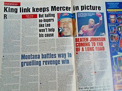 BOXING NEWS - 27 feb 1998 - eubank, mcdonnell, holyfield, lewis free p&p to uk 10