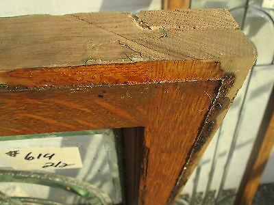 "Great Size Pair Solid Oak Antique All Beveled Glass 55"" Side-Lites Estate # 619 4"