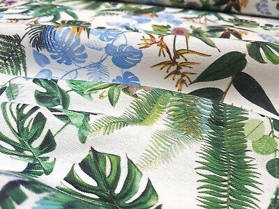 Stoff 100/% Baumwolle Panama Deko Gardine Tischdecke Digitaldruck Kakteen Kaktus