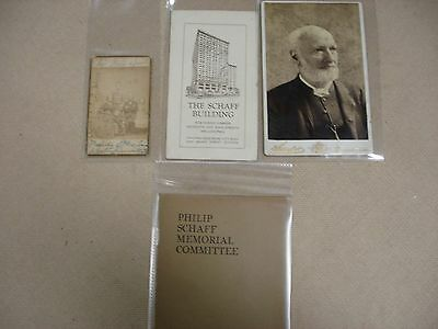 Life of Philip Schaff - Includes ephemera related to Schaff - 1897 2 • CAD $371.21