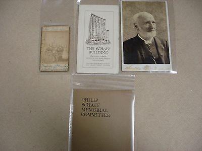 Life of Philip Schaff - Includes ephemera related to Schaff - 1897 2