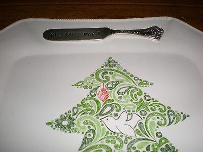 Mudpie Mud Pie Platter Treats Serving Christmas Holiday Magic Tree Bird 6
