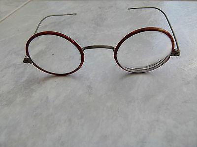 sehr alte runde Brille, Dachbodenfund, gut Erhalten