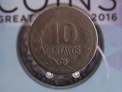 0001 10C EL SALVADOR 10 CENTAVOS 1925(f)