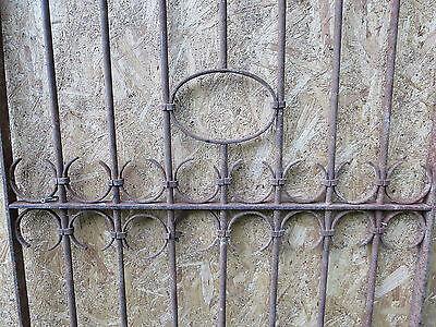 Antique Victorian Iron Gate Window Garden Fence Architectural Salvage Door GGG 6