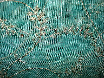 Chinese Net/lace Ladies Indian Saree With Matching Petticoat & Blouse 2