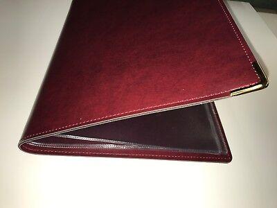 Qty 20 (Pu Leatherette) Top Quality A4 Menu Folder In Black Or Burgundy 7