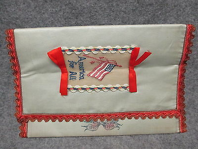 Victory In Memory Of My Service Worlds War WWI 1917-1918 Cloth Document Holder 6