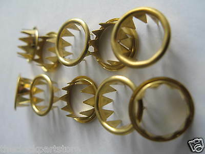 Keyhole grommets - Brass x 10 / 5 pairs for clock repair 10mm