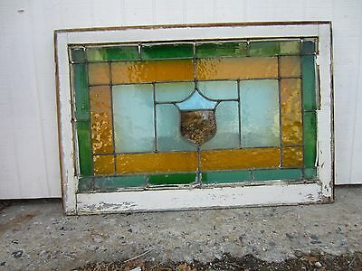 ~ Antique American Stained Glass Window ~ 24 X 36 ~ Architectural Salvage ~ 5