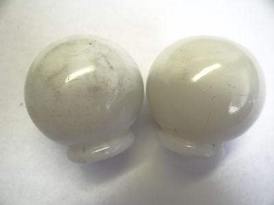 Antique White Glass Architectural Decorative Finial Pieces Balls Accent Parts 6