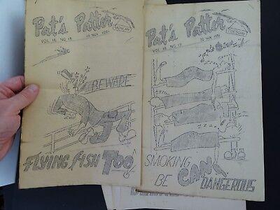 RARE 12 Magazine Newspaper Archive  Pat's Patter Korean War USAT MM Patrick 1951 9