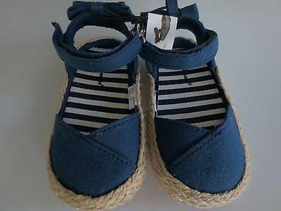 58efd7860 ... GARANIMALS Blue Espadrilles Shoes Sandal 1 of 5Only 4 available NEW Girl  Infant *3-6**6-9**9-