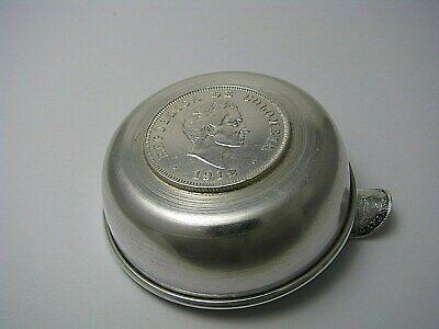 Colombian Coin Silver Ashtray 1912 50 Centavos 1942 10 Centavos 900 Silver Coins 4
