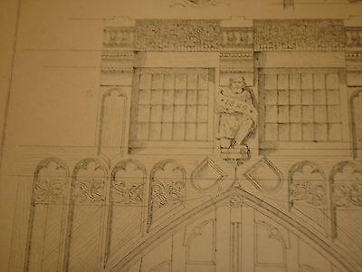 Gothische Holz-Architektur 1870 German Gothic Architecture Folio Huge 48 Plates 10