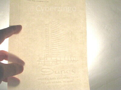 Dunes Hotel And Country Club Las Vegas Vintage Stationary And Envelope 6