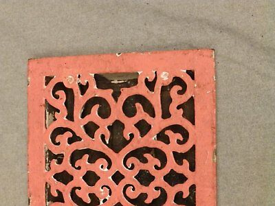 Antique Victorian Cast Iron Heat Grate Register Vent Old Vintage Hardware 625-16