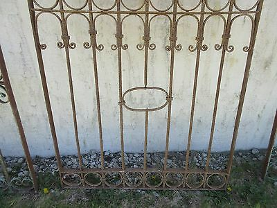 Antique Victorian Iron Gate Window Garden Fence Architectural Salvage Door #381 4