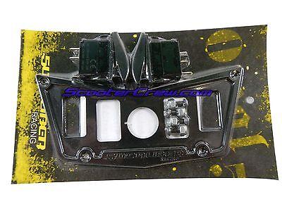 ScooterCrew RZR4 Polaris SXS Dash Panel Black Custom Part XP900 800s RZR Switch