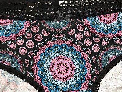 Torrid Boyshort Panties Size 3 Pink Purple Hummingbird Black Lace Underwear 3
