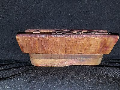 Early 1900's Hand Carved Wood Architectural Plaster Pattern Accent Mold 2 3