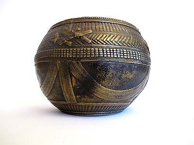 Antik Indische Bronze Reisschale Hinduismus