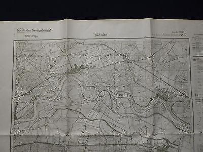 Landkarte Meßtischblatt 3957 Rädnitz i.d. Neumark, Bindow, Läsgen, 1945