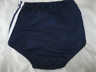 """Girls DAVID LUKE Navy Blue Gym Knickers (White stripes) W24 (23-27"""") - NEW! 2"""