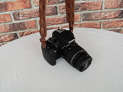 Echt Leder DSLR Kamera Tragegurt Trageriemen Braun Leather Camera Strap *210