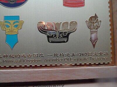 Rare  San Xing Dui China Bronze Heads Boxed 10