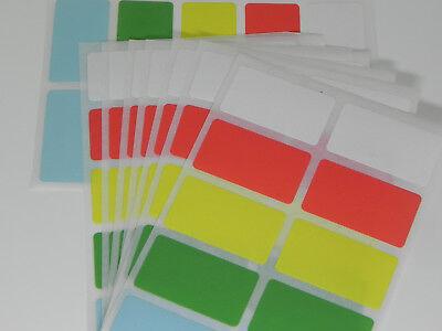 Farben Tiefkühlaufkleber aus Folie 50 x 50 mm Gefrieretiketten