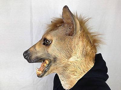 Hyena Animal Mask Wild Dog Overhead Latex Zoo Fancy Party Masquerade Movie