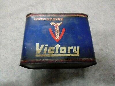 LATA VINTAGE 2 L  LUBRICANTES  OIL MOTOR VICTORY  AÑOS 40-50  15. 5 x 15 x 12 cm 3