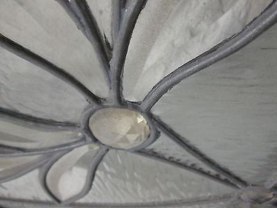 Monumental 9 Ft. Pair Beveled Antique Glass Door Side- Lites W/10 Jewels # 531 7